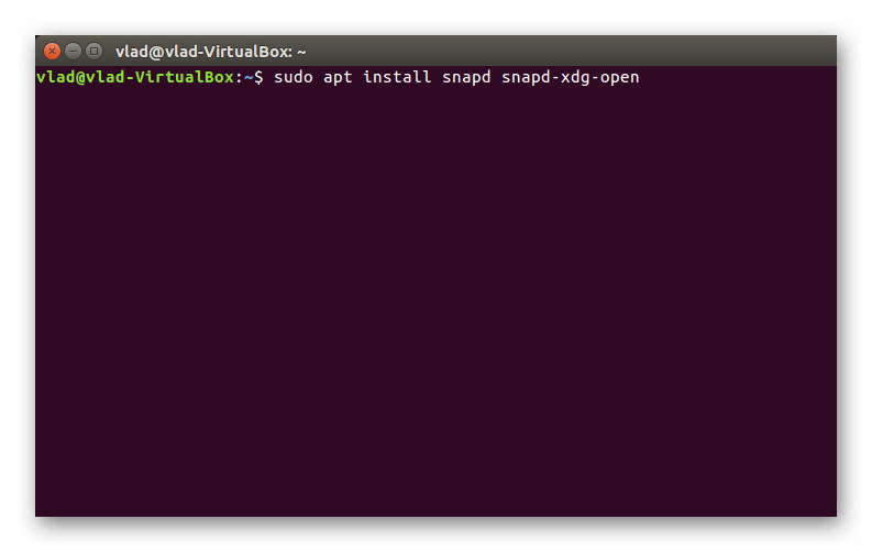 Ввод первой команды в терминале Linux